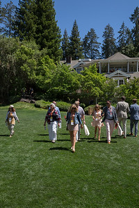Guests making the descent onto Meadowood's beautiful grounds. Photo ©2017 by Jason Tinacci / Napa Valley Vintners