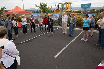 Tanir Ami speaks to a group of Napa Valley vintners and auction guests about the new Ole Health Community Clinic. Photo ©2017 by Jason Tinacci / Napa Valley Vintners
