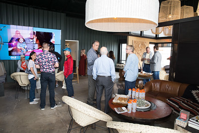 Vintners Chuck and Anne McMinn welcome auction guests and community health members to their new tasting salon in downtown Napa prior to a short walk to the new Ole Health clinic. Photo ©2017 by Jason Tinacci / Napa Valley Vintners