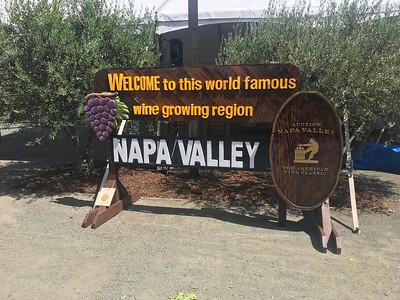 Students from Napa High School constructed a replica of the Napa Valley Welcome Sign