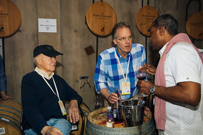 John and Doug Shafer sharing their wine at the Auction Napa Valley Barrel Auction