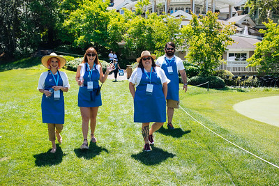 Volunteers ready to help guests at the 2019 Live Auction Celebration