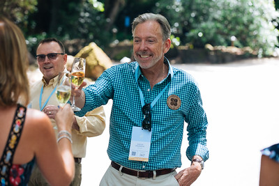David Pearson of Opus One greeting guests at the 2019 Live Auction Celebration