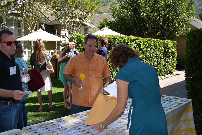 Welcoming NVV members to the Auction Napa Valley vintner kickoff party.