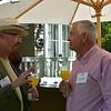 Bart O'Brien (L) and Robin Baggett (R) chatting at the vintner kickoff party.