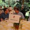 Jon Ruel (L) and Glenn Salva (R) chatting at the vintner kickoff party.