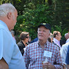 Winemakers Mike Martini (L) and Joel Aiken (R) chatting at the vintner kickoff party.