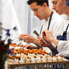 """Zen and the art of rolling coronets - a French Laundry classic served at the Saturday Auction lunch. Photo by <a href=""""http://www.tinacciphoto.com"""" target=""""_blank"""">Jason Tinacci</a> for the Napa Valley Vintners."""