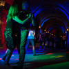 """Guests dance inside the Castello di Amorosa during the kick-off party.  Photo by <a href=""""http://napasphotographer.com/"""">Bob McClenahan</a> for Napa Valley Vintners."""
