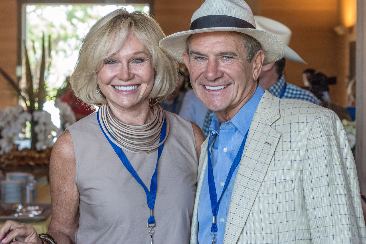 """Kathryn and Craig Hall host this year's barrel auction. <br> <br> Photo by <a href=""""http://napasphotographer.com/"""">Bob McClenahan</a>"""
