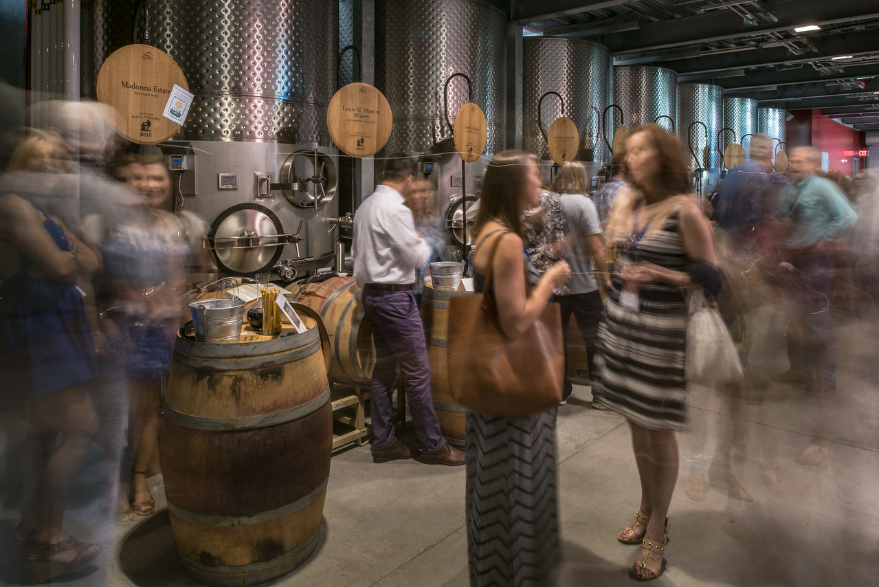"""Inside the barrel auction tasting room at Hall Wines. <br> <br> Photo by <a href=""""http://napasphotographer.com/"""">Bob McClenahan</a>"""
