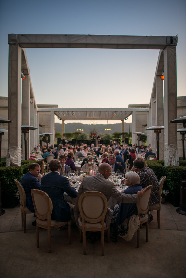 """Perfect evening for dining outside at Opus One. <br> <br> Photo by <a href=""""http://napasphotographer.com/"""">Bob McClenahan</a>"""