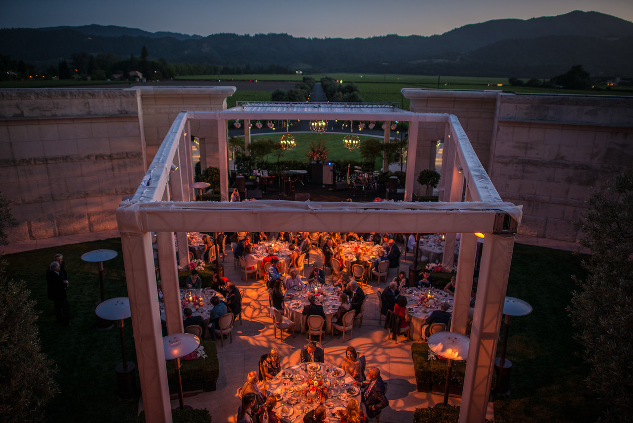 """The Top Bidder Dinner at Opus One. <br> <br> Photo by <a href=""""http://napasphotographer.com/"""">Bob McClenahan</a>"""
