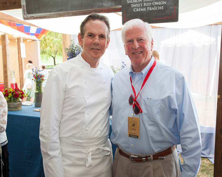 "Senator Mike Thompson and chef Thomas Keller at Auction Napa Valley. Photo by <a href=""http://www.tinacciphoto.com"" target=""_blank"">Jason Tinacci</a> for the Napa Valley Vintners."