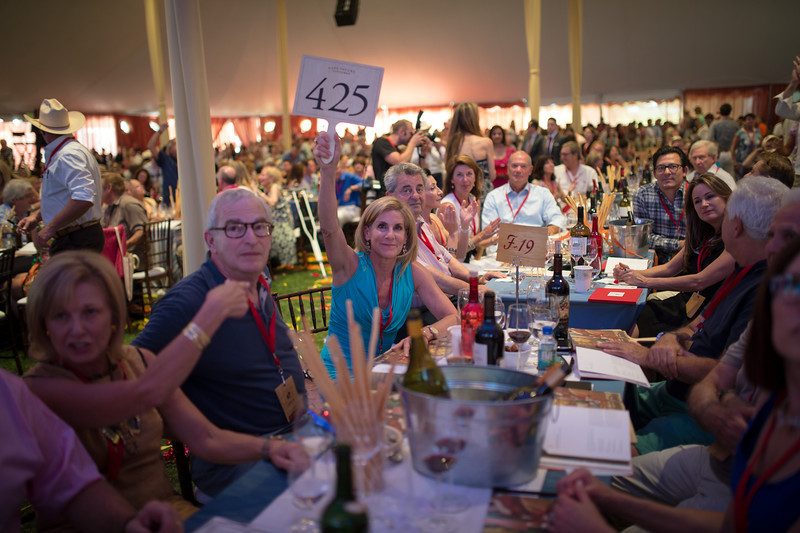 "Paddle 425 bids on a lot.  Photo by <a href=""http://napasphotographer.com/"">Bob McClenahan</a> for Napa Valley Vintners."