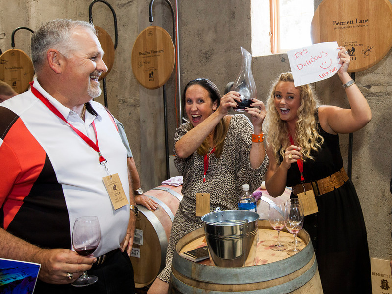 "You could take their word for it or you can just taste it right from the barrel. Photo by <a href=""http://www.tinacciphoto.com"" target=""_blank"">Jason Tinacci</a> for the Napa Valley Vintners."