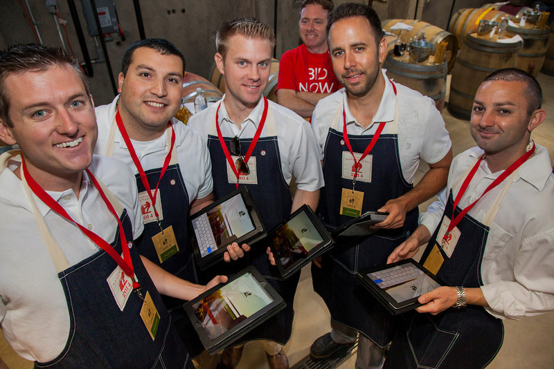 "The Barrel Auction bidding crew ready to start taking electronic bids - a first in Auction history. Photo by <a href=""http://www.tinacciphoto.com"" target=""_blank"">Jason Tinacci</a> for the Napa Valley Vintners."