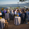 "Guests enjoying the views and the wines at Montagna during the Pritchard Hill party.  Photo by <a href=""http://napasphotographer.com/"">Bob McClenahan</a> for Napa Valley Vintners."