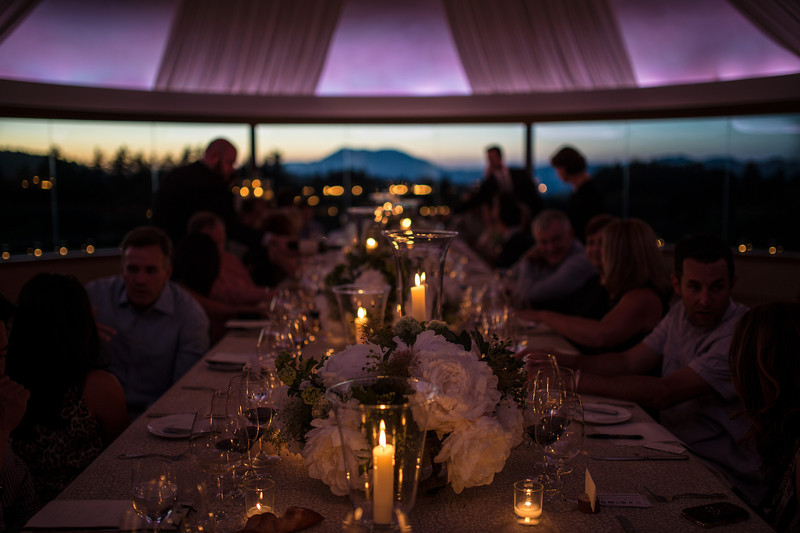 """The dinner table at Vineyard 7&8 with Mt. Saint Helena in the background.  Photo by <a href=""""http://napasphotographer.com/"""">Bob McClenahan</a> for Napa Valley Vintners."""
