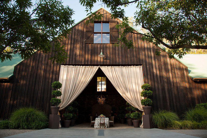 """The barn at Araujo Estate Wines awaits guests for dinner.  Photo by <a href=""""http://www.tinacciphoto.com"""" target=""""_blank"""">Jason Tinacci</a> for the Napa Valley Vintners."""