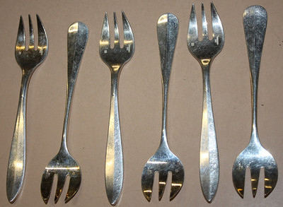 Christofle Pastry Fork Set Silverplate