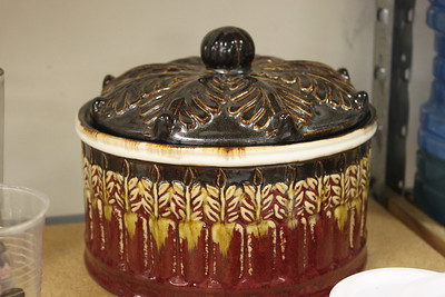 Pottery Lidded Dish