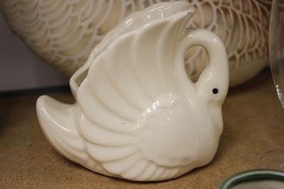 Pottery Swan Planter