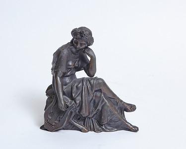 Bronze Lady Clock Topper