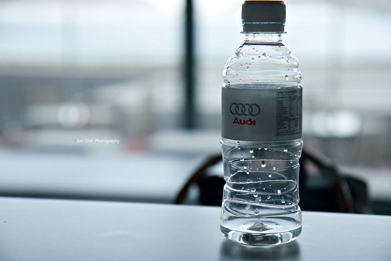 Audi Branded Mineral Water Served...