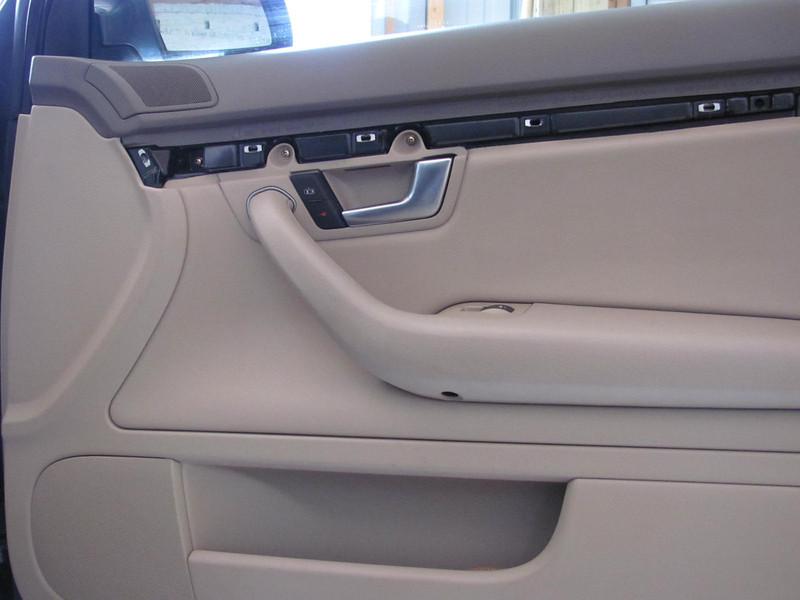 Door trim removed