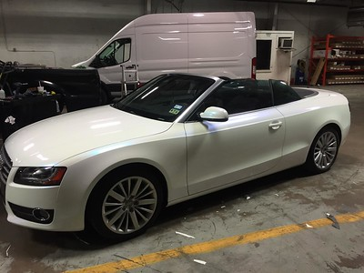 Audi A5 convertible with a full Pink Sparkle Skinz Specialty Film, Dallas, TX