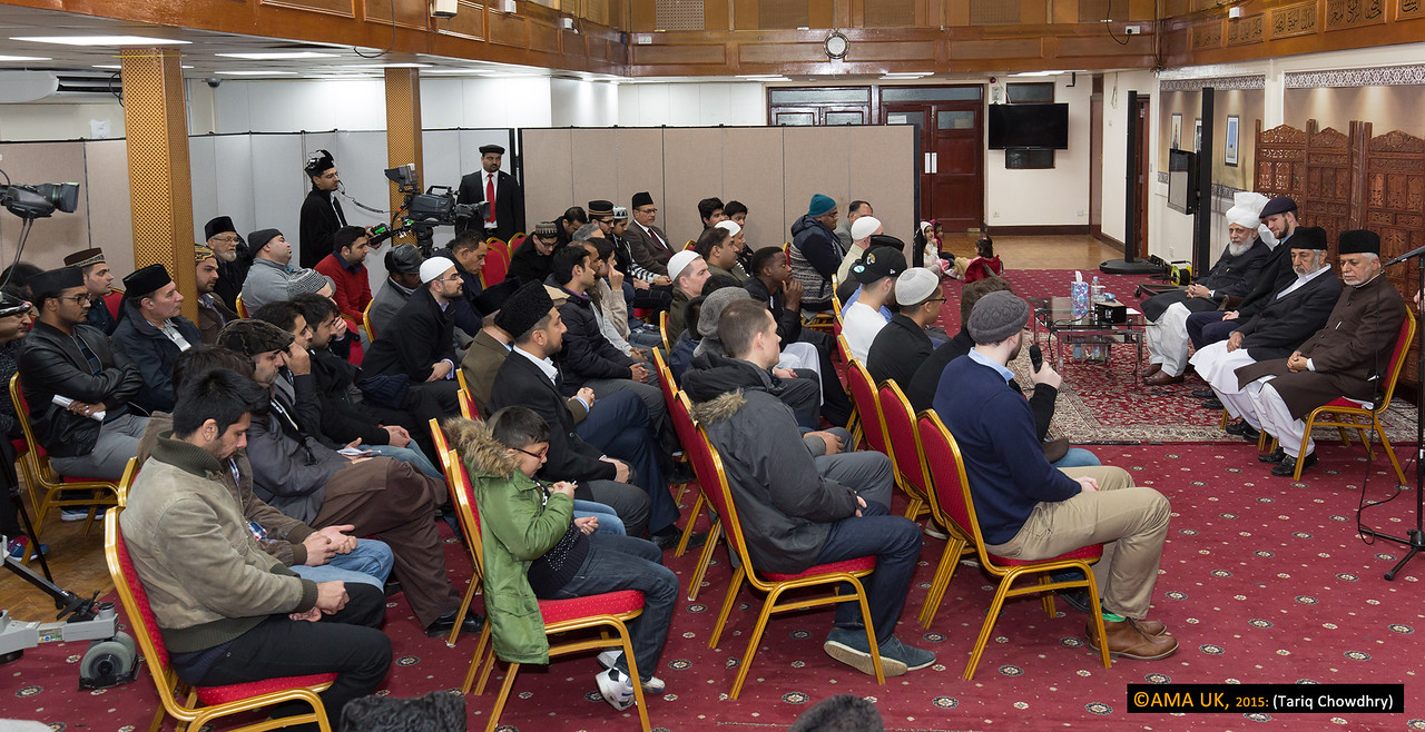 Hudhur, addressing all the New Ahmadis, asked them to introduce themselves and explain how they came to know about Islam Ahmadiyyat, what they are doing now, where they are originally from and what made them accept Islam Ahmadiyyat?