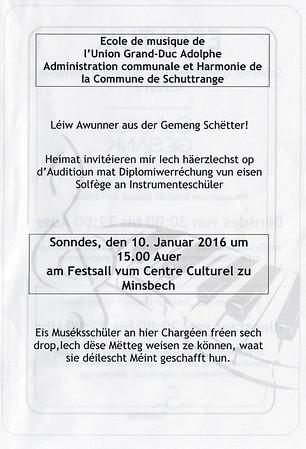 Auditioun Museksschoul Schëtter