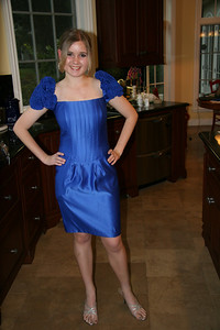 Audrey ready to go to her friend, Ali's, Sweet Sixteen party