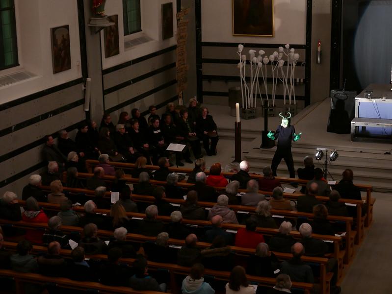 @RobAng 11.3.18, Kirche Oberegg: Premiere Passionsspiel Himmel + Höll