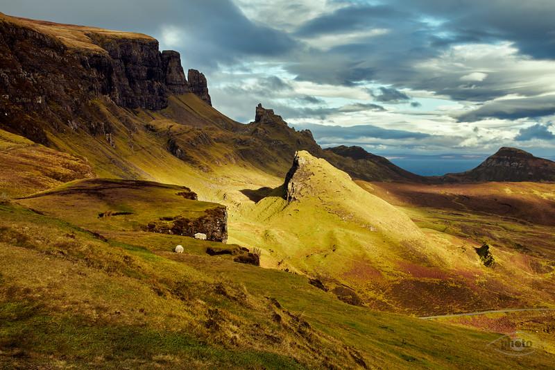 Auf dem Weg zum Old Man Storr, Highlands, Schottland