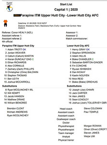 20200801 Football - Upper Hutt v Lower Hutt - STARTSHEET