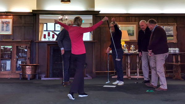 20210816 Janet Mathews and Jan Brown celebrating at RWGC Assisted Golf 107