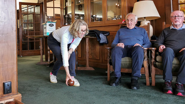 20210816 Jan Brown bowling at RWGC Assisted Golf 111
