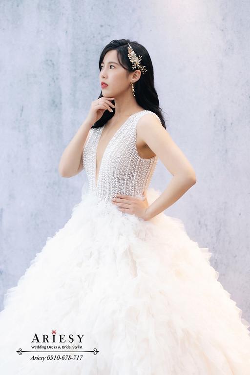愛瑞思,ariesy,台北新秘,新秘推薦,歐美立體妝容女星,仙女送客時尚造型