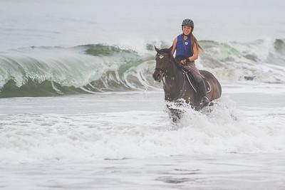 August 11, 2013 Beach Ride at Poplar Beach