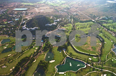Aerial view showing La Manga Club's North, South and West Courses, August 28th 1997