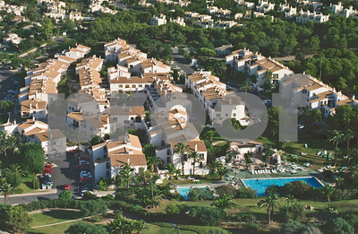 Aerial shot of Bellaluz village and pool area, 28th August 1997