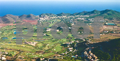 Aerial view of La Manga Club towards the Mediterranean, August 28th 1997