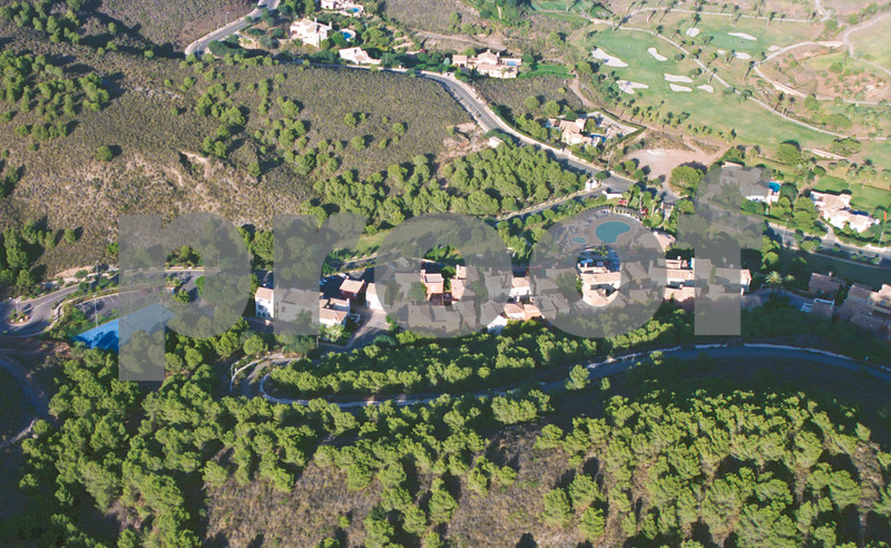 Aerial view from behind Las Lomas village looking towards the North Course, August 28th 1997