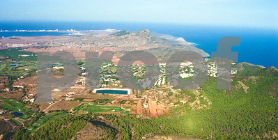 Aerial view from La Manga Club's West Course looking East towards Cabo de Palos, 28th August 1997