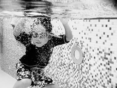 Sean swimming