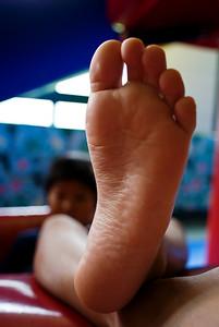 Edgar's left foot