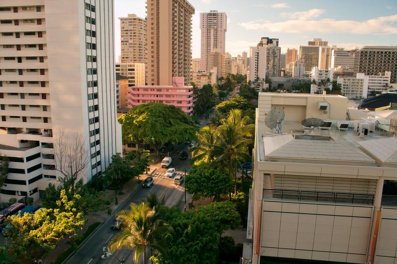 Early morning in Waikiki