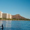 Waikiki Beach with view on Diamond Head